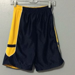 Other - Girls Navy Blue & Yellow Athletic Shorts Sz M